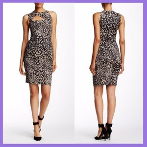 NEW Versace Collection Printed Cutout Dress 40